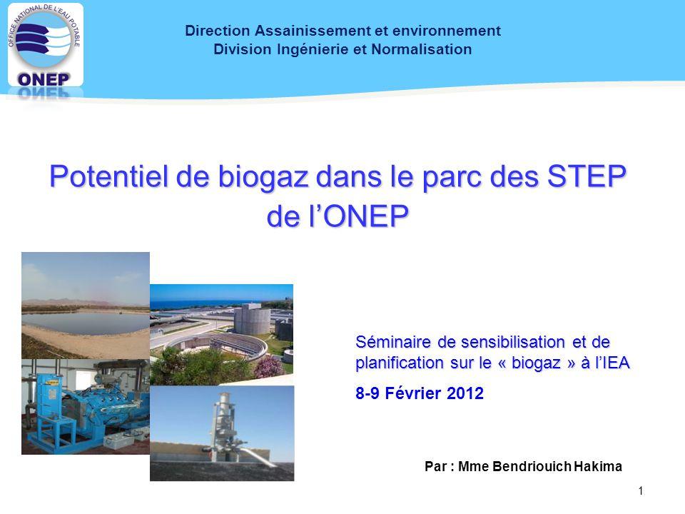 Direction Assainissement et environnement Par : Mme Bendriouich Hakima
