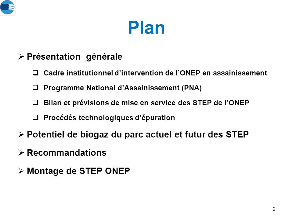 Plan Présentation générale