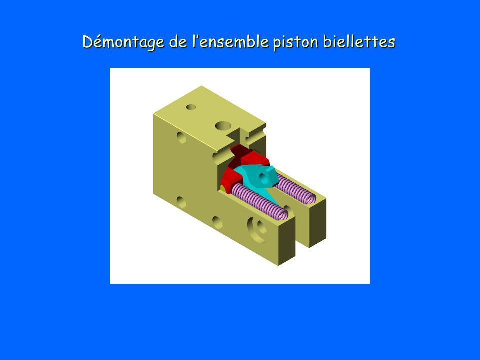Démontage de l'ensemble piston biellettes