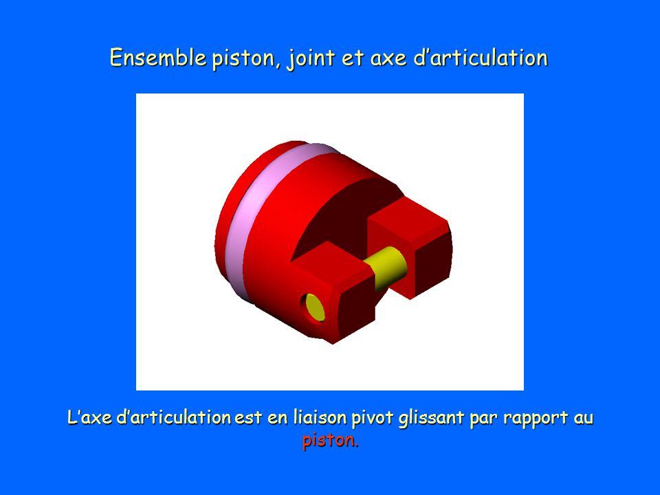Ensemble piston, joint et axe d'articulation
