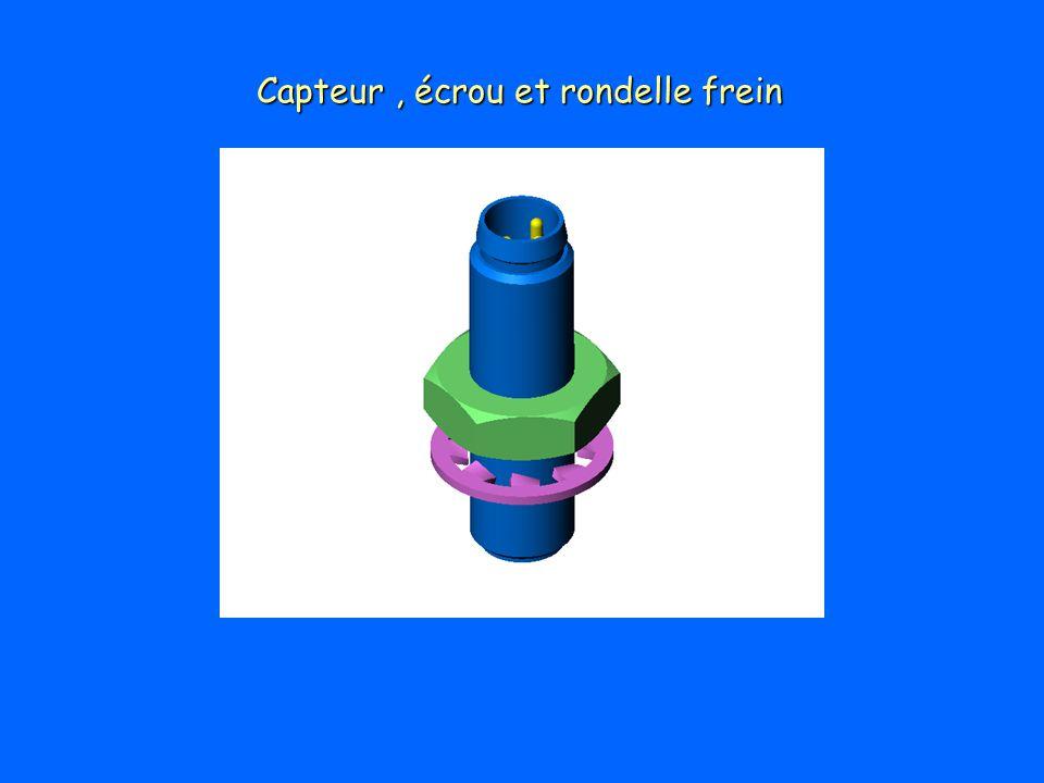 Capteur , écrou et rondelle frein