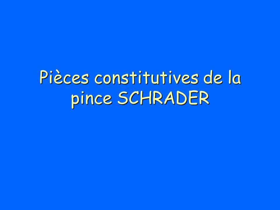 Pièces constitutives de la pince SCHRADER