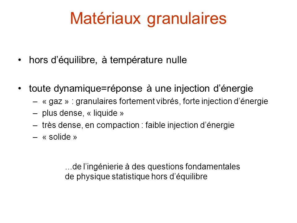 Matériaux granulaires
