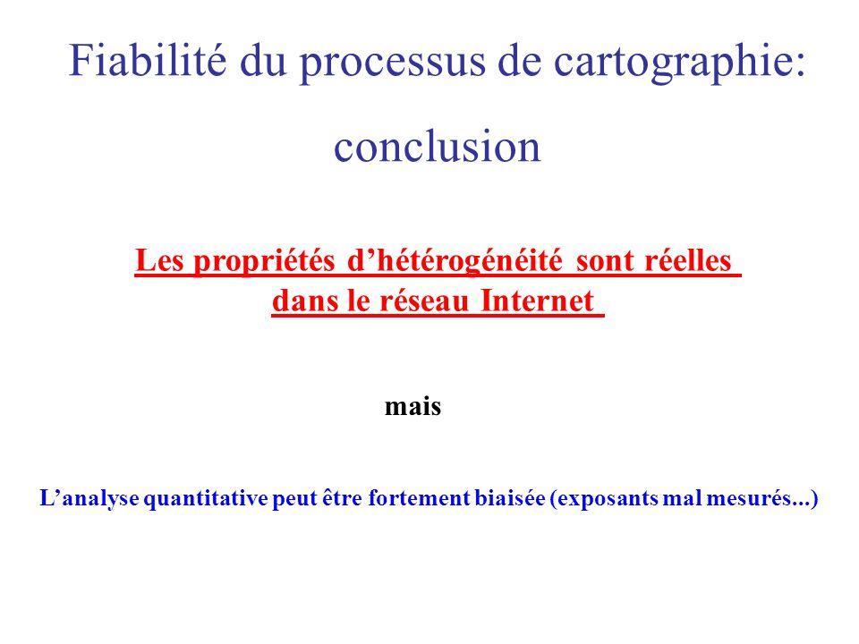 Les propriétés d'hétérogénéité sont réelles dans le réseau Internet