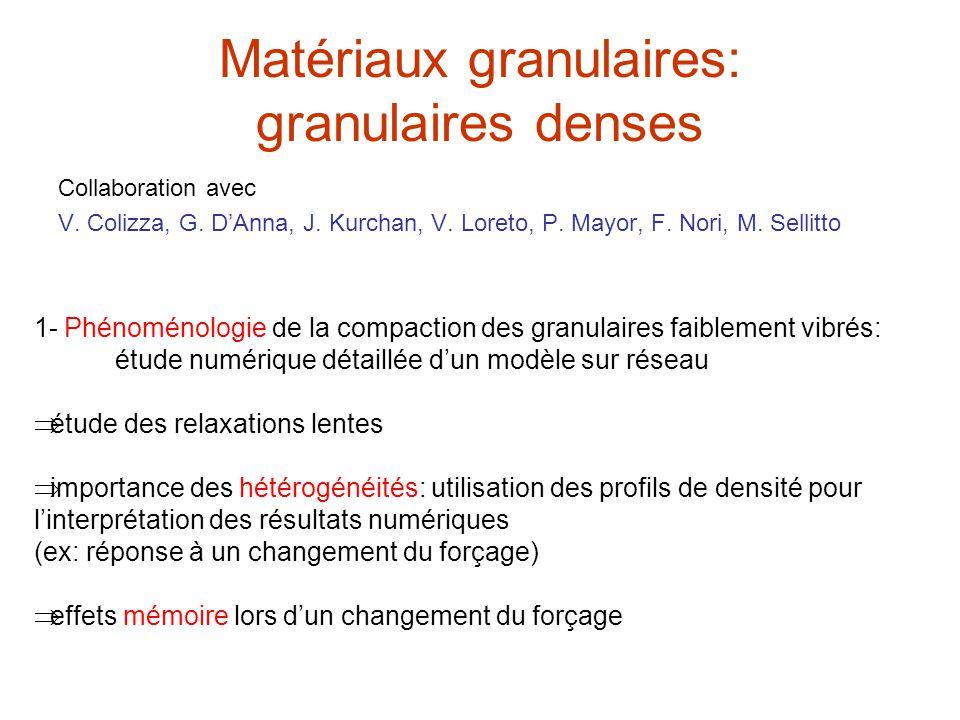 Matériaux granulaires: granulaires denses