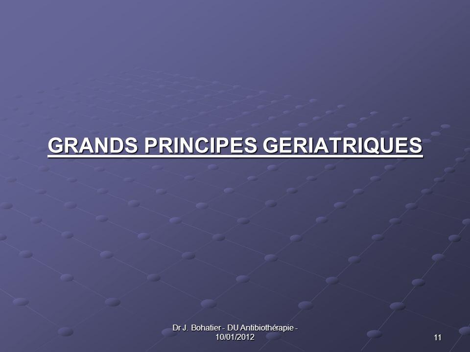 GRANDS PRINCIPES GERIATRIQUES