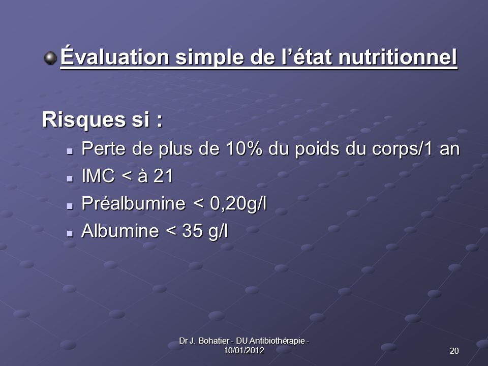 Dr J. Bohatier - DU Antibiothérapie - 10/01/2012