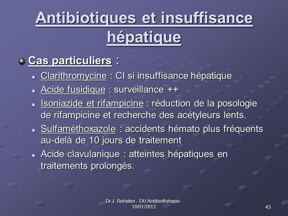 Antibiotiques et insuffisance hépatique