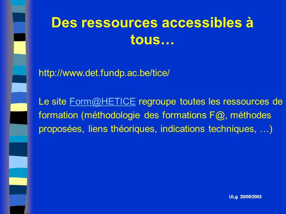 Des ressources accessibles à tous…