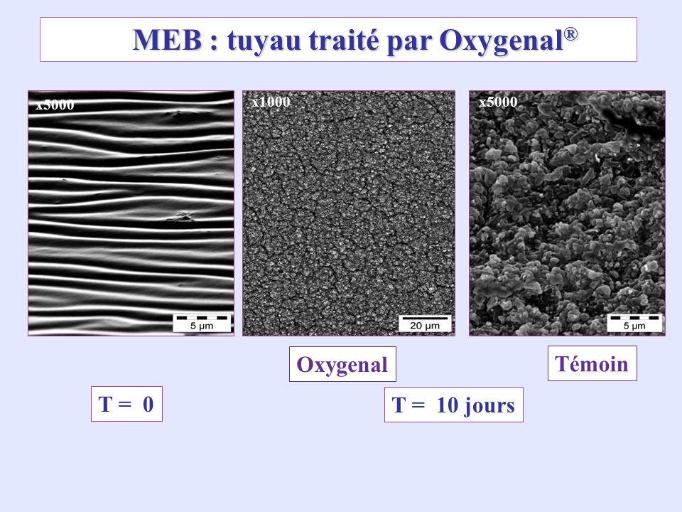 MEB : tuyau traité par Oxygenal®