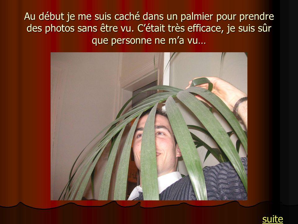 Au début je me suis caché dans un palmier pour prendre des photos sans être vu. C'était très efficace, je suis sûr que personne ne m'a vu…
