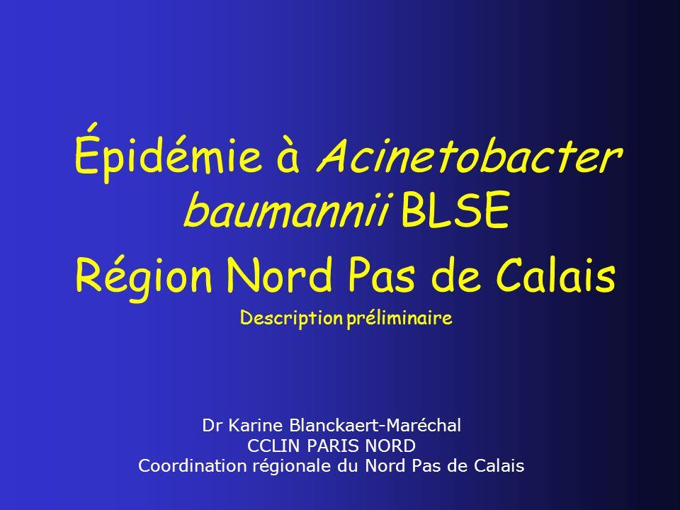 Épidémie à Acinetobacter baumannii BLSE Région Nord Pas de Calais
