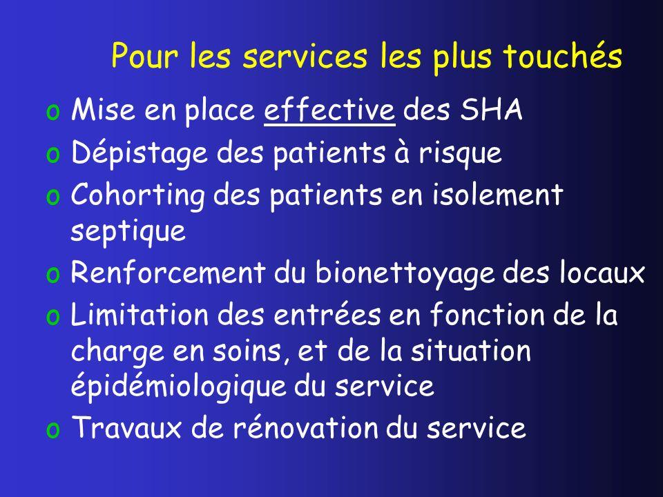 Pour les services les plus touchés