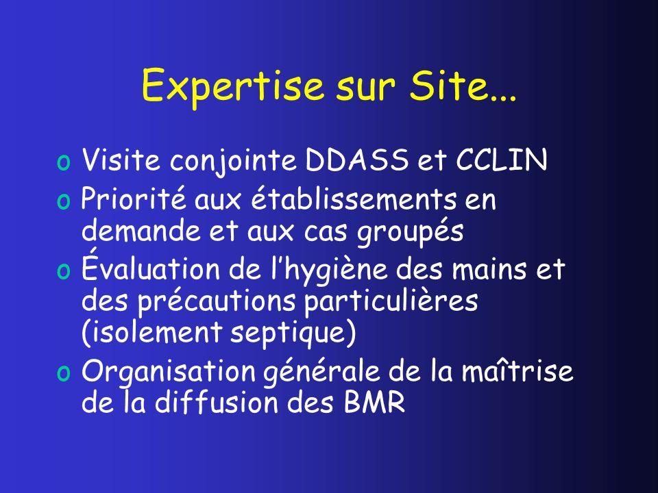 Expertise sur Site... Visite conjointe DDASS et CCLIN