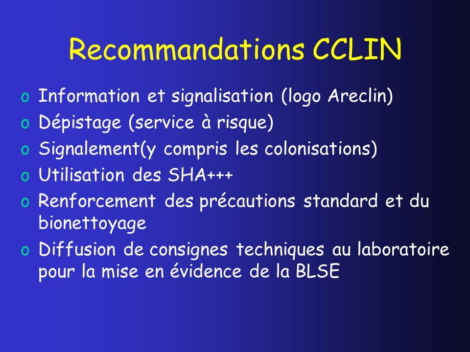 Recommandations CCLIN