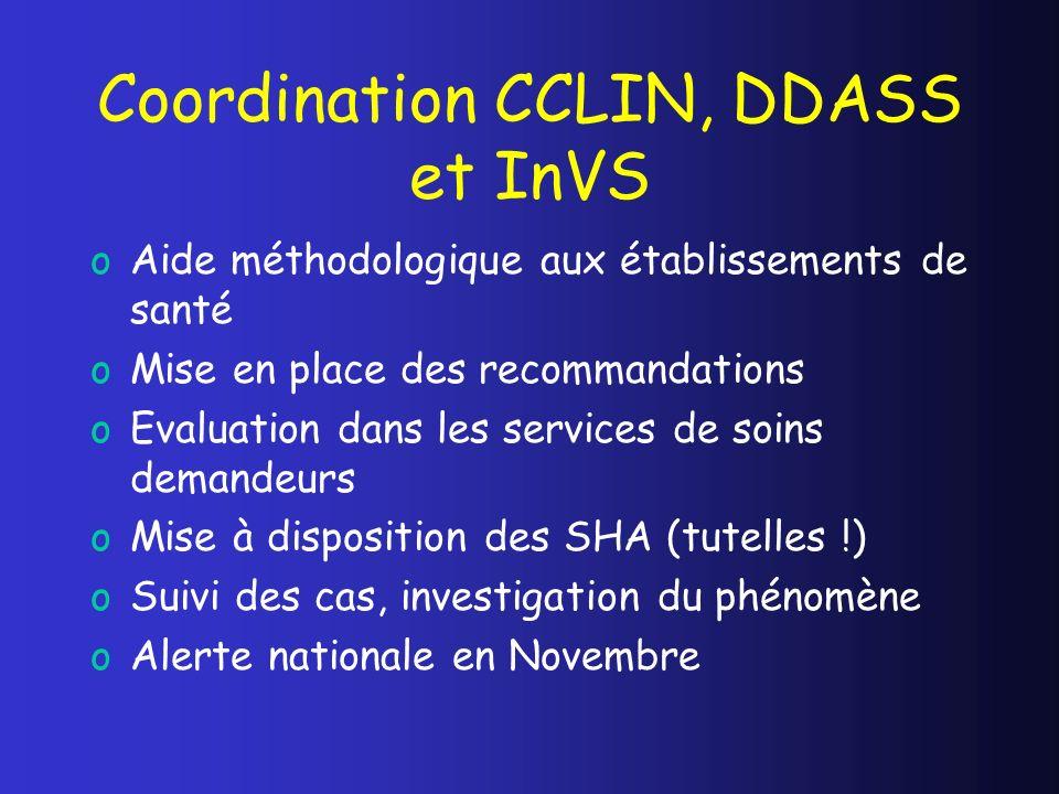 Coordination CCLIN, DDASS et InVS