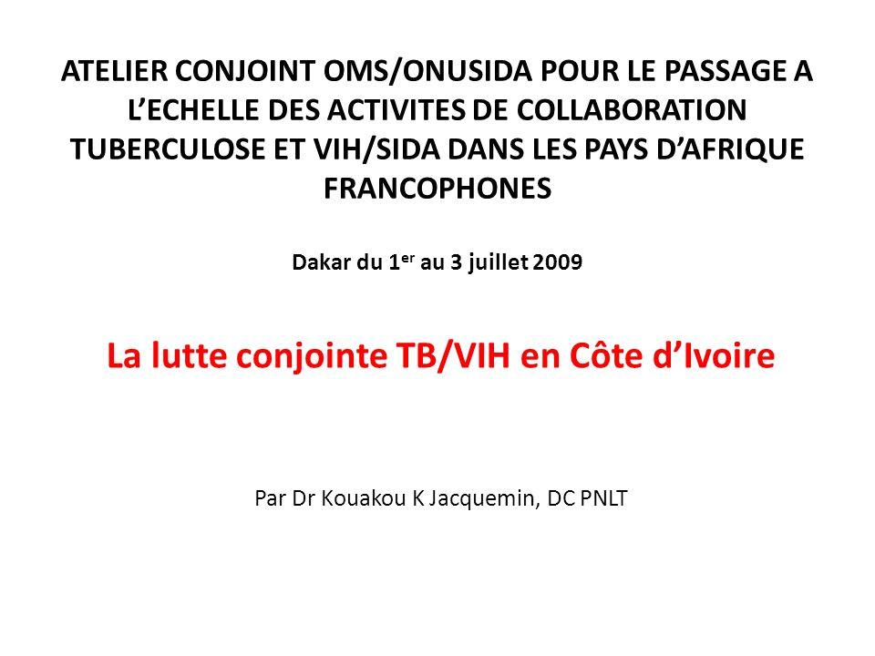 La lutte conjointe TB/VIH en Côte d'Ivoire