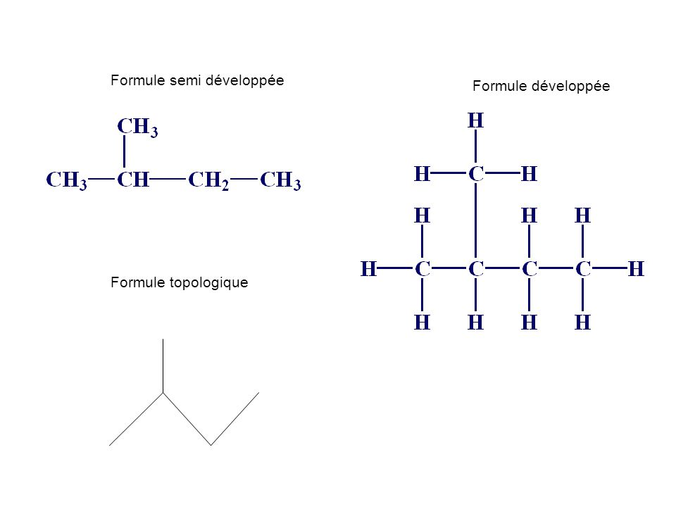 Formule semi développée