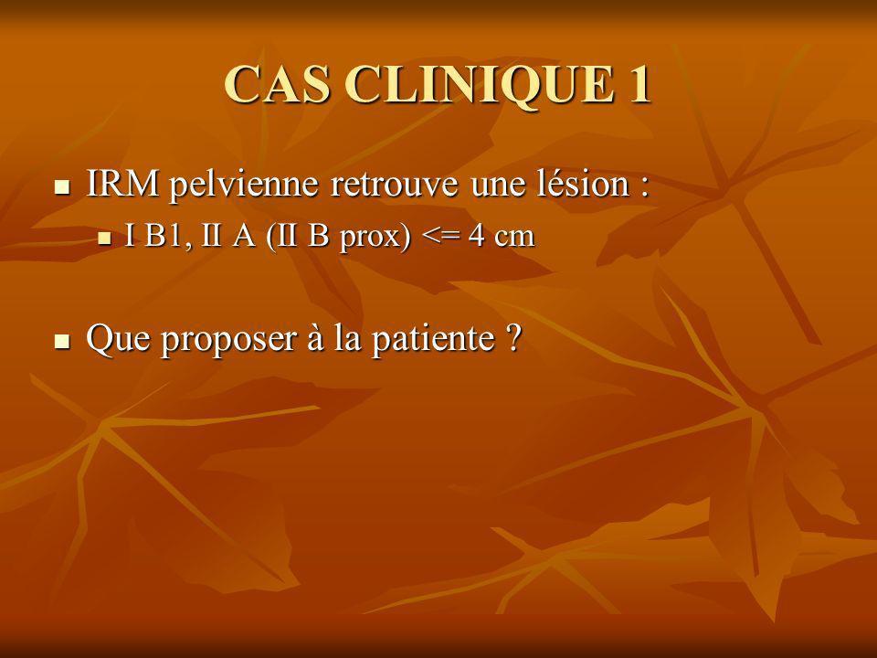CAS CLINIQUE 1 IRM pelvienne retrouve une lésion :