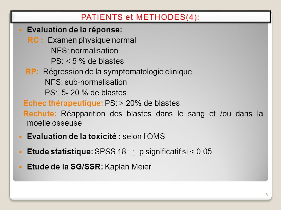 PATIENTS et METHODES(4):