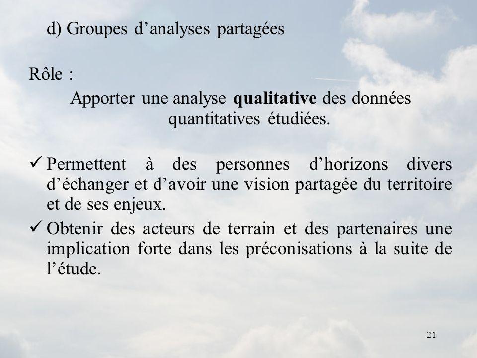 Apporter une analyse qualitative des données quantitatives étudiées.