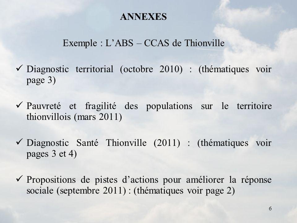 Exemple : L'ABS – CCAS de Thionville