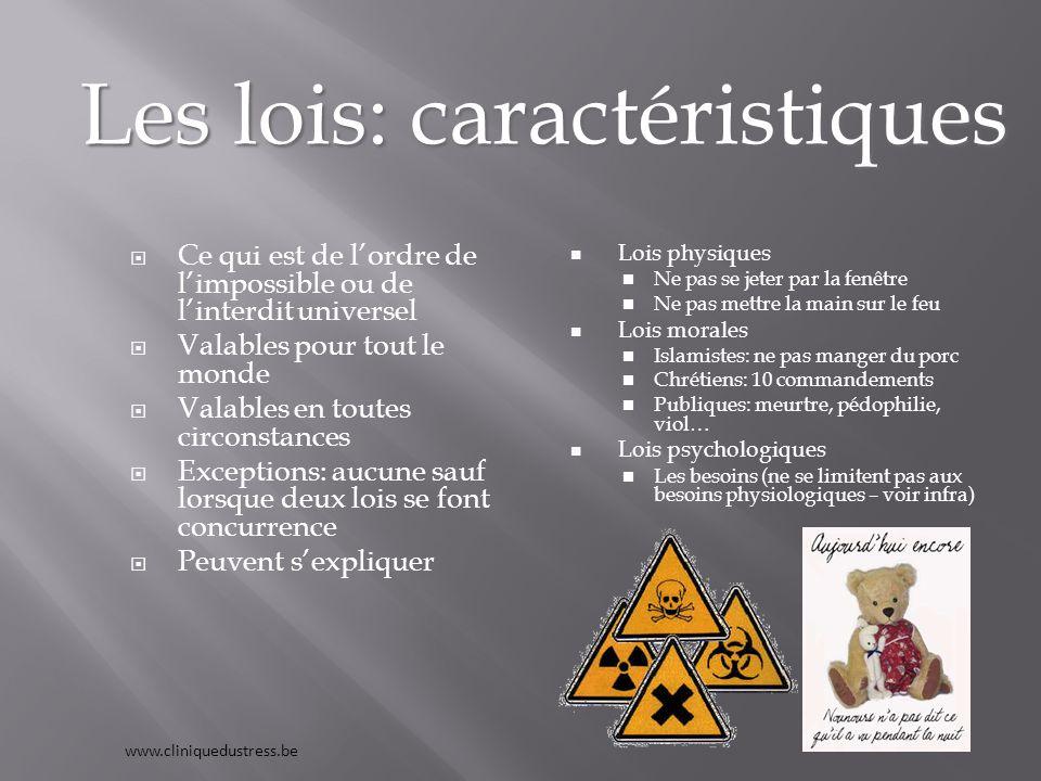 Les lois: caractéristiques