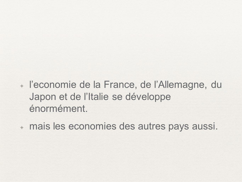 l'economie de la France, de l'Allemagne, du Japon et de l'Italie se développe énormément.