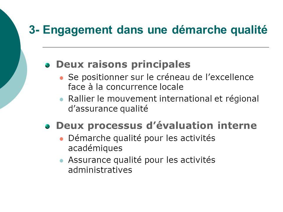 3- Engagement dans une démarche qualité