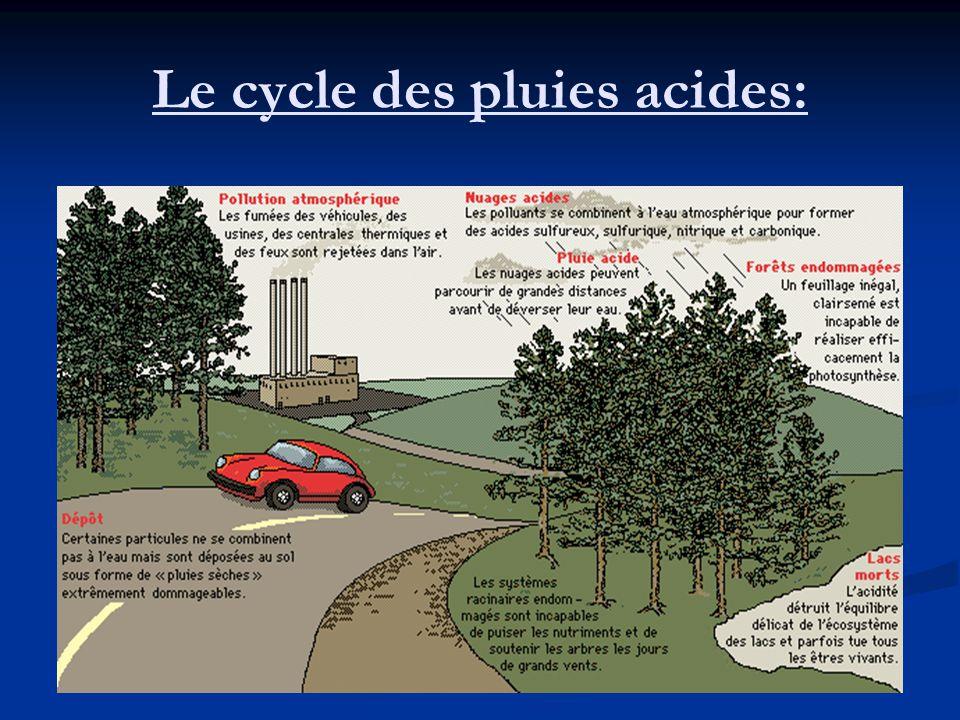 Le cycle des pluies acides: