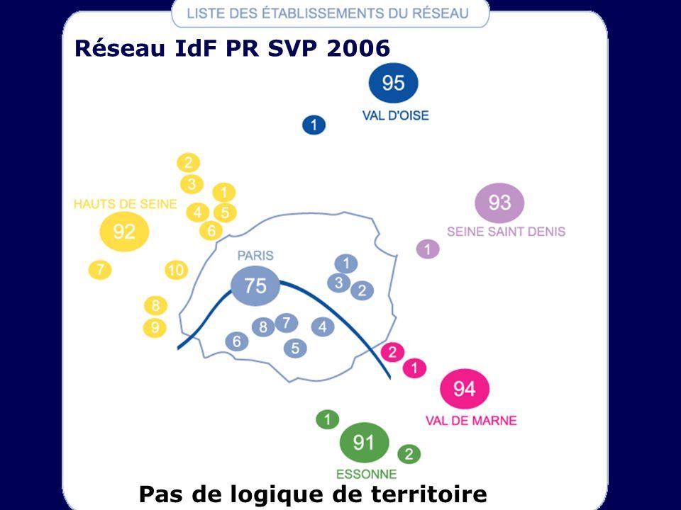 Réseau IdF PR SVP 2006 Pas de logique de territoire