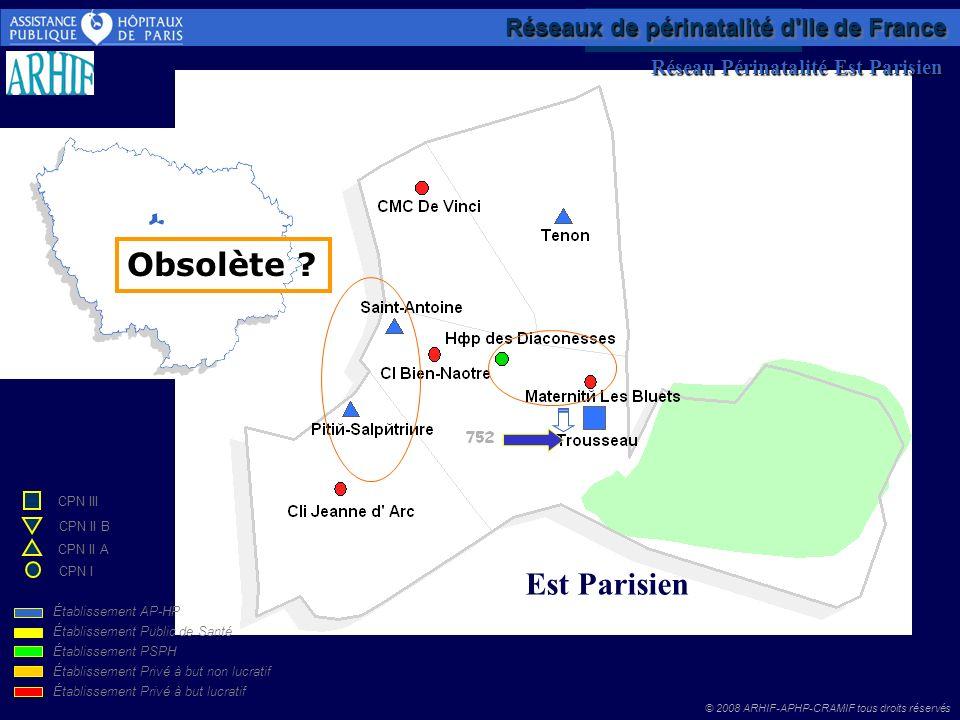 Obsolète Est Parisien Réseaux de périnatalité d Ile de France