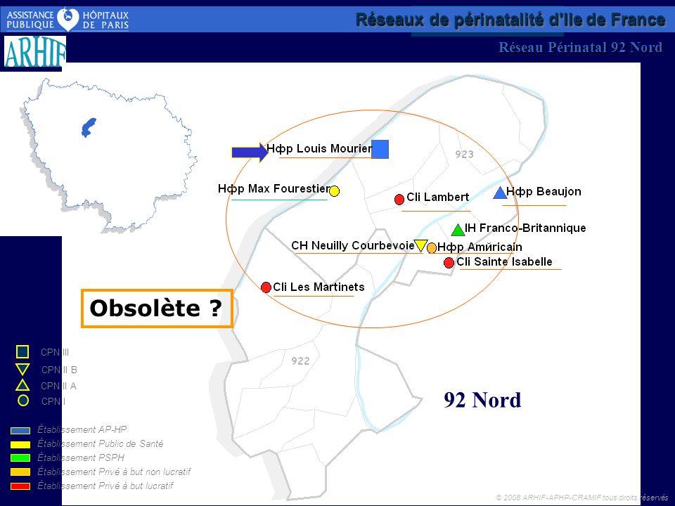 Obsolète 92 Nord Réseaux de périnatalité d Ile de France