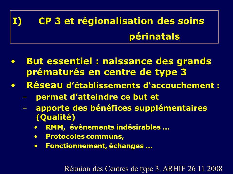 CP 3 et régionalisation des soins périnatals