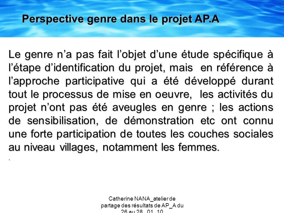 Perspective genre dans le projet AP.A