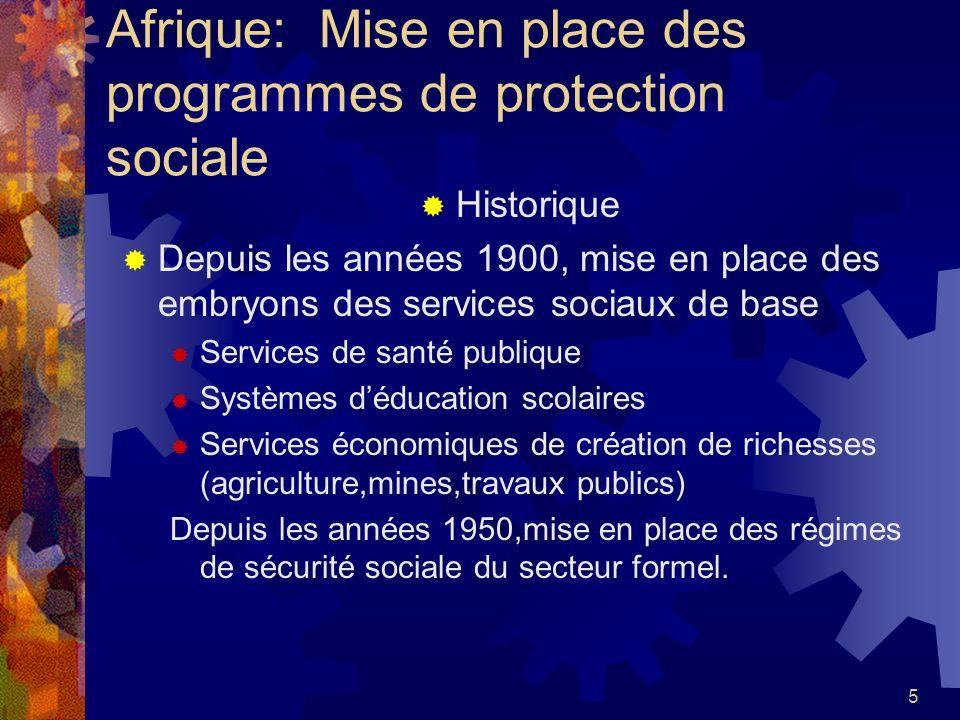 Afrique: Mise en place des programmes de protection sociale