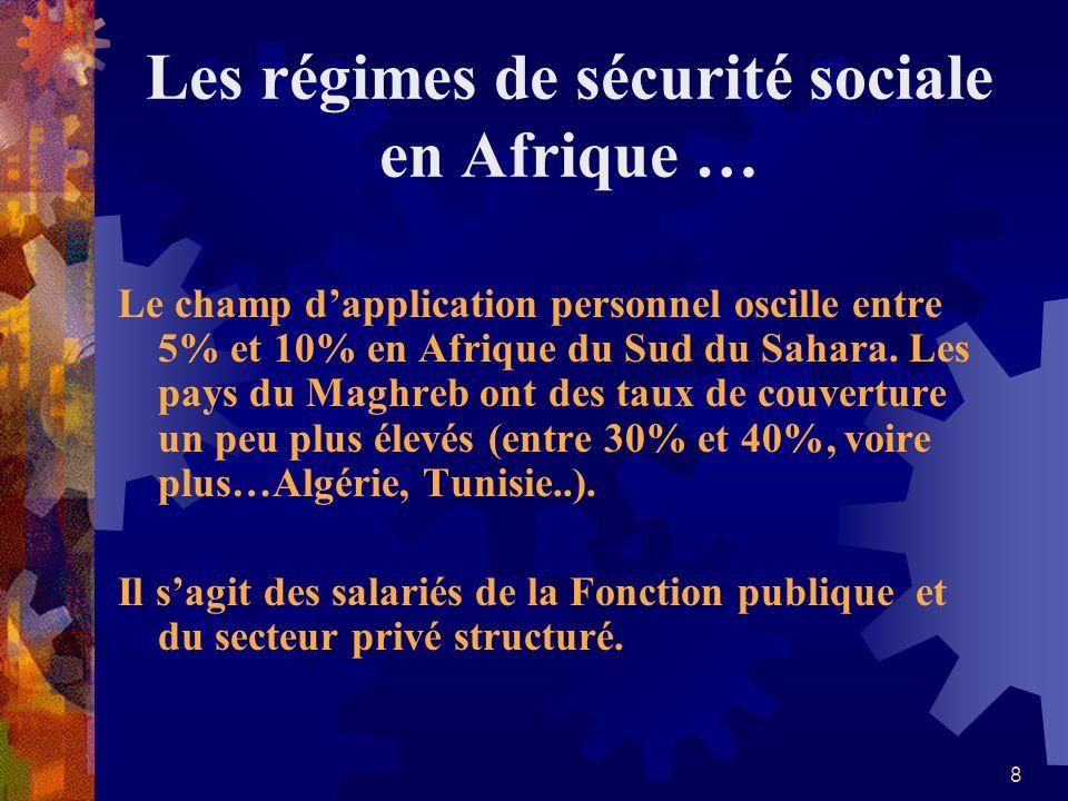 Les régimes de sécurité sociale en Afrique …
