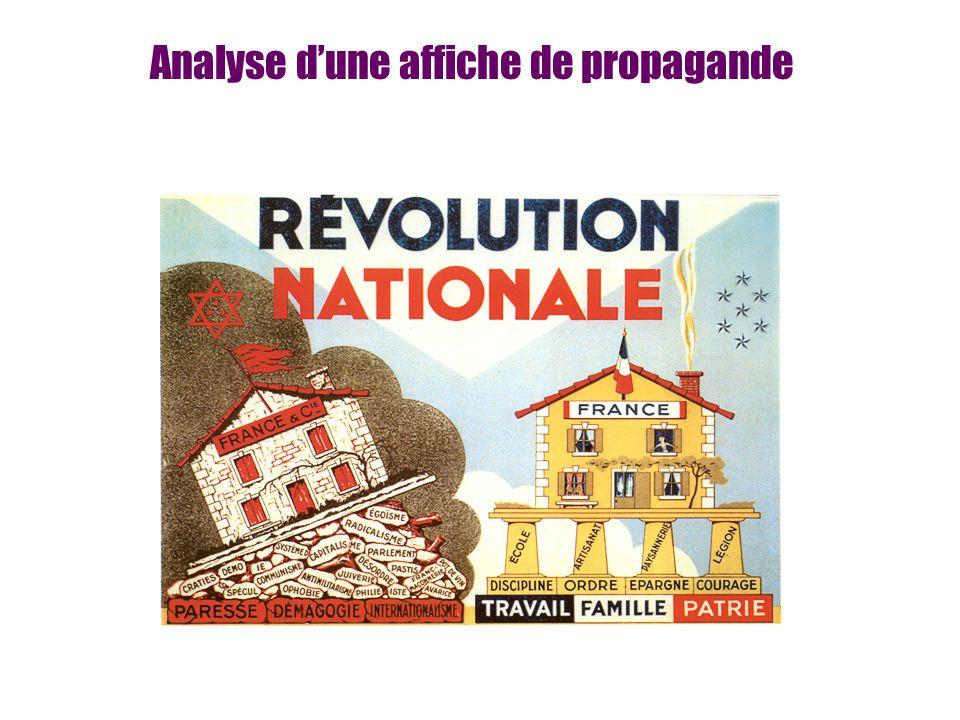 Analyse d'une affiche de propagande