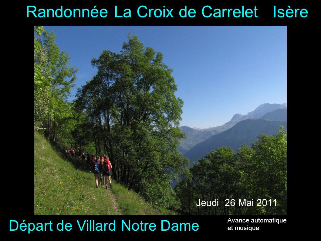 Randonnée La Croix de Carrelet Isère