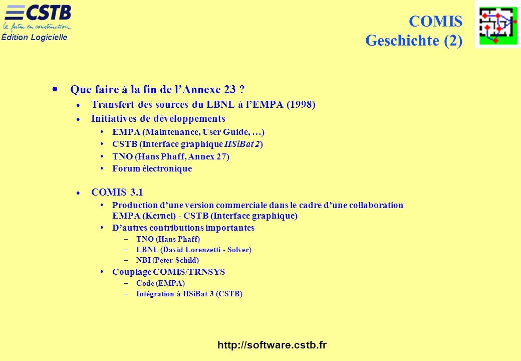 COMIS Geschichte (2) Que faire à la fin de l'Annexe 23