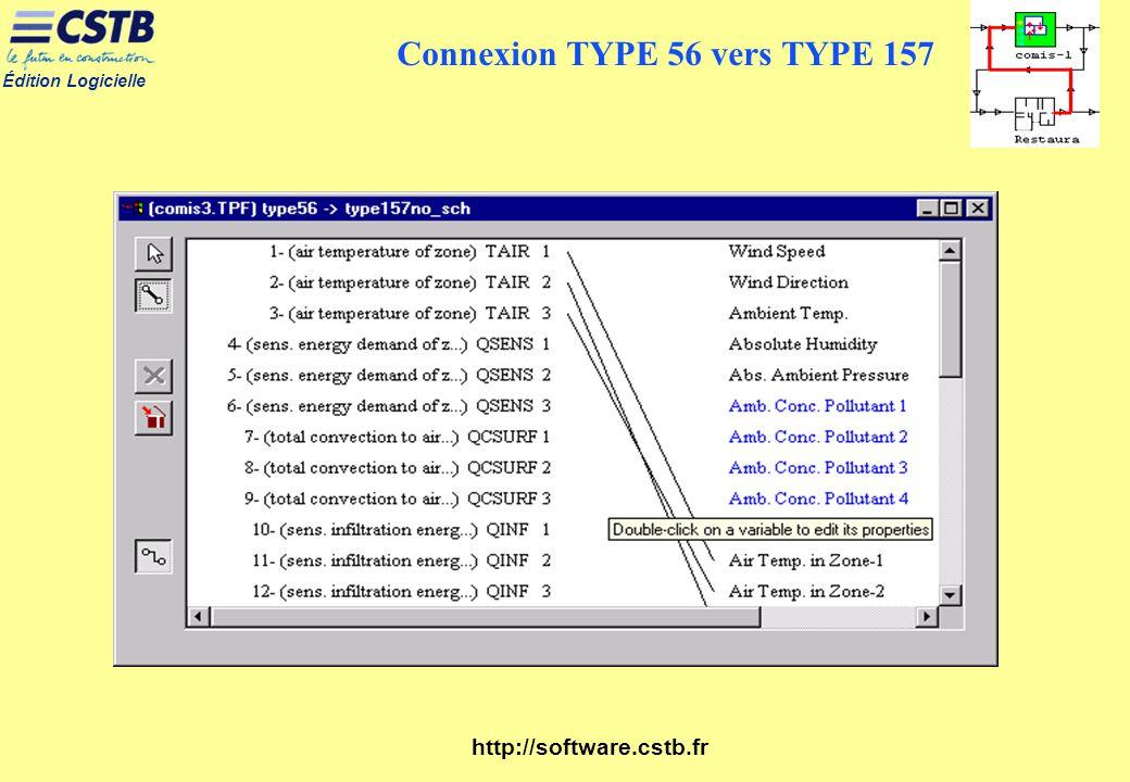 Connexion TYPE 56 vers TYPE 157