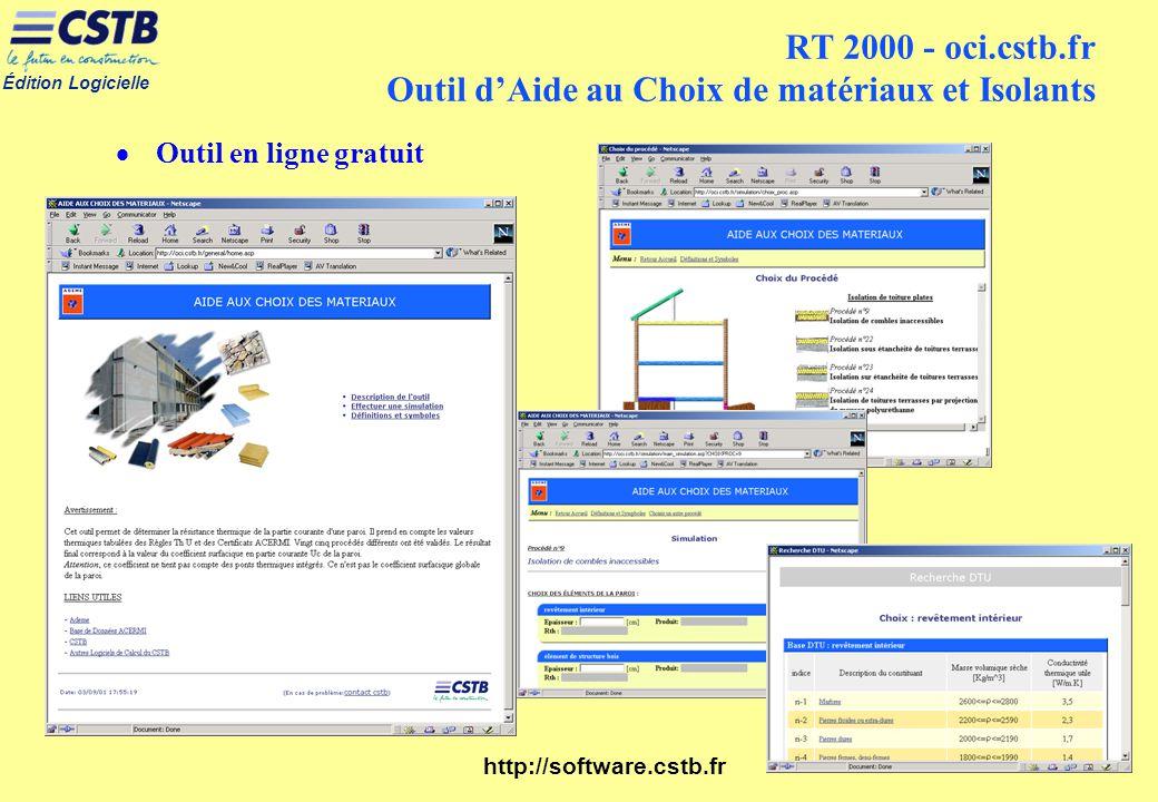 RT 2000 - oci.cstb.fr Outil d'Aide au Choix de matériaux et Isolants