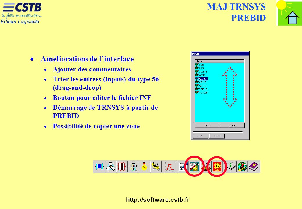 MAJ TRNSYS PREBID Améliorations de l'interface