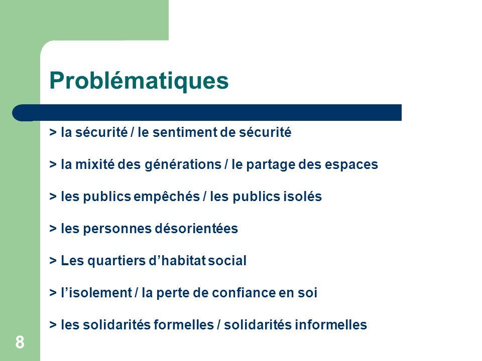 Problématiques > la sécurité / le sentiment de sécurité