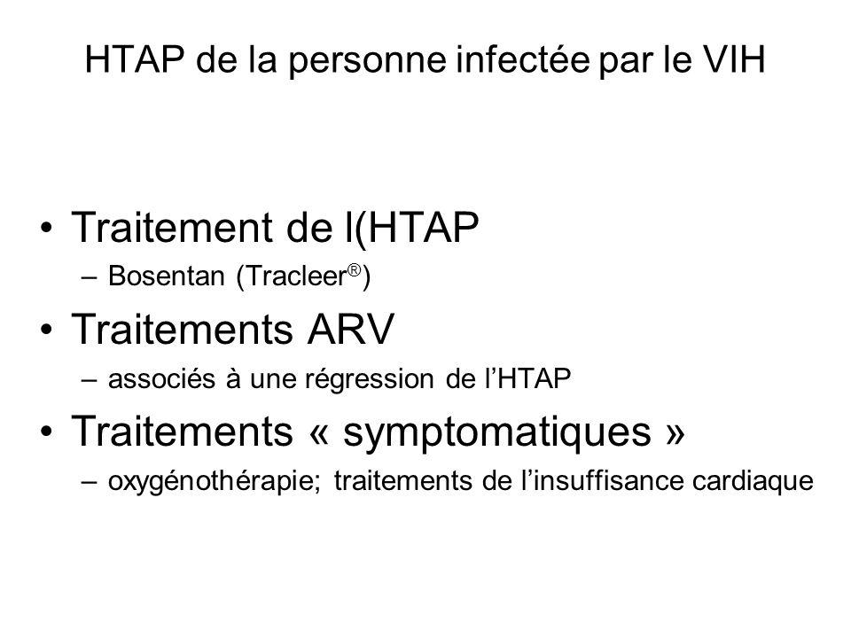 HTAP de la personne infectée par le VIH