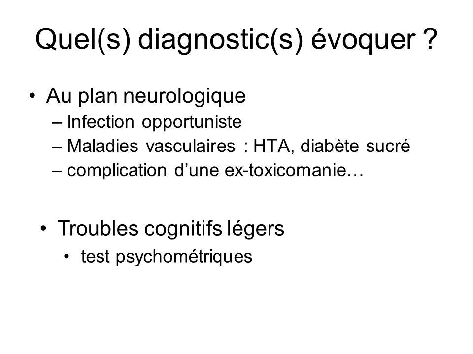 Quel(s) diagnostic(s) évoquer