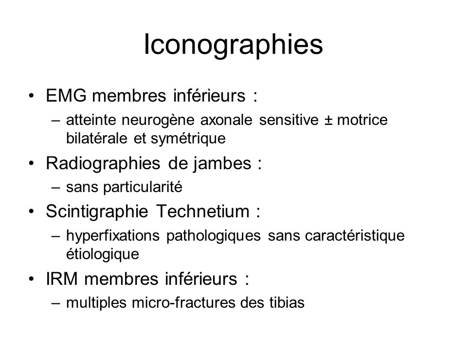 Iconographies EMG membres inférieurs : Radiographies de jambes :