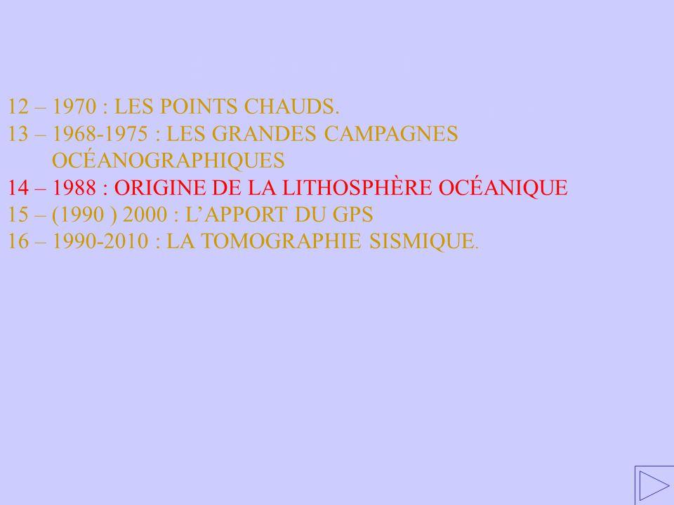 14 – ORIGINE DE LA LITHOSPHÈRE OCÉANIQUE