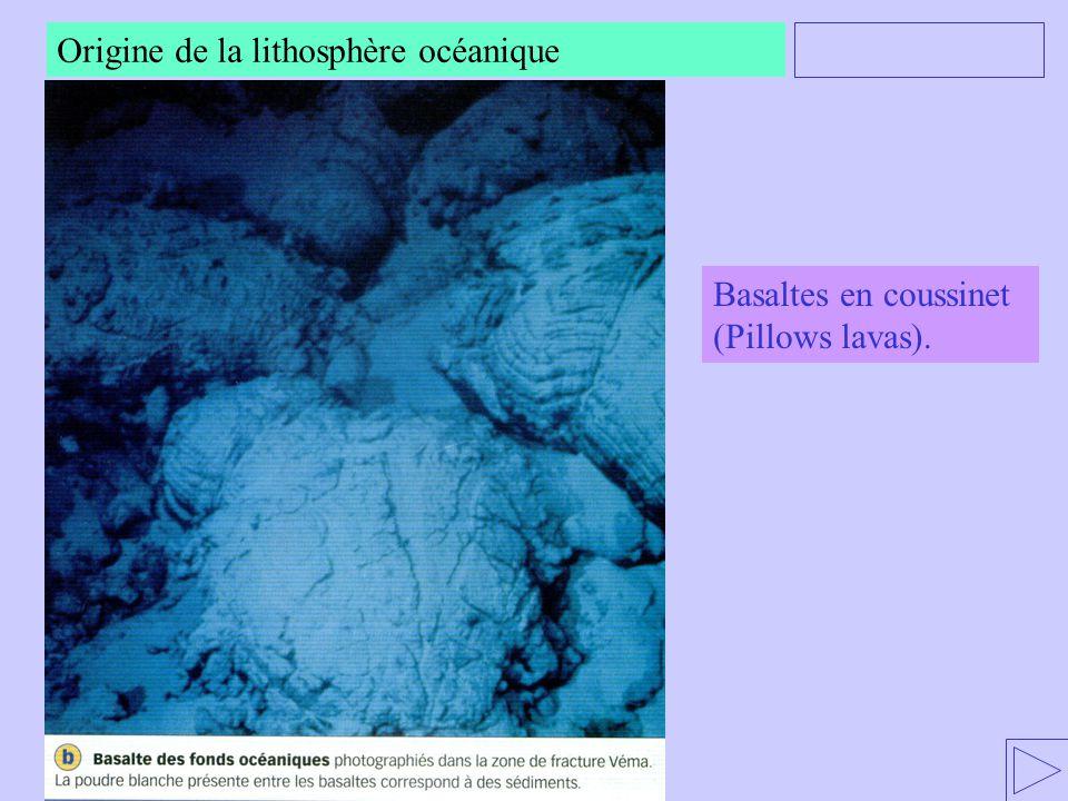 Origine de la lithosphère océanique