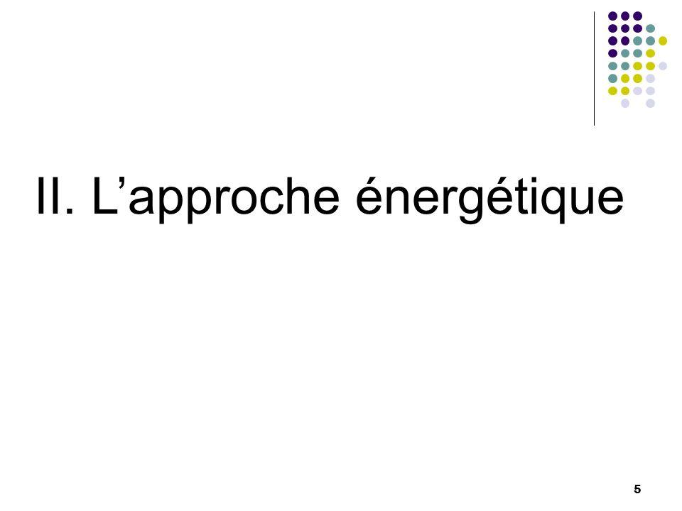 II. L'approche énergétique